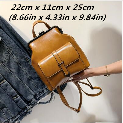 Miyahouse Fashion Casual Travel Woman Backpack Simple Solid Color Backpack For Female High Quality Pu Leather Woman Rucksack #4