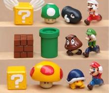 12pcs/lot PVC Super Mario Action Figures Kawaii Kids Toys New Game Movie TV Anime