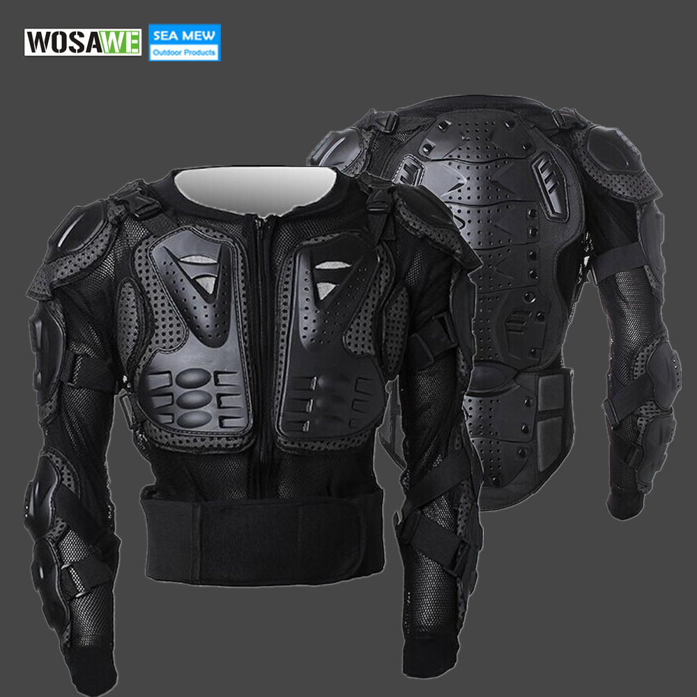 WOSAWE 2018 Snowboard Skiing Professional Motorcycle Body Protection Motorcycle Racing Armor Chest Protective Skiing Jacket Gear herobiker armor removable neck protection guards riding skating motorcycle racing protective gear full body armor protectors