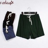 Pantalones cortos de verano para mujer, pantalón de dormir con cordón de algodón, color negro y rojo vino, novedad, Q278