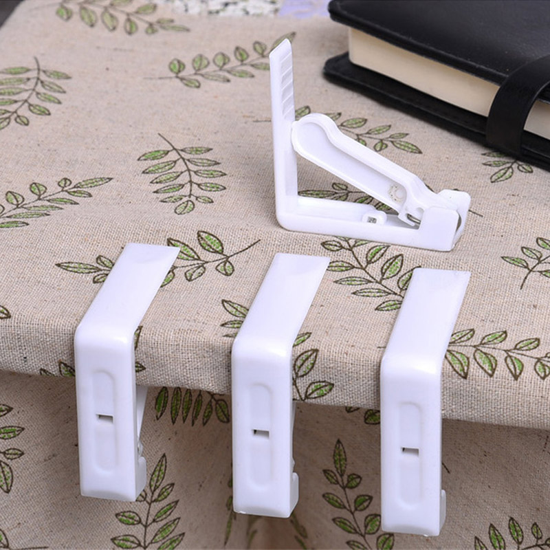 4 Pcs/Set Stainless Steel Plastic Tablecloth Clamps Wedding Promenade Table Cover Holder Clip Promenade/Round Board Stable Clips