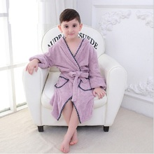 2-8year Boy Girl Animal Baby Bathrobe Baby Hooded Bath Towel Infant Bathing Honey Baby Cartoon Kids Robes Flannel Child Clothing