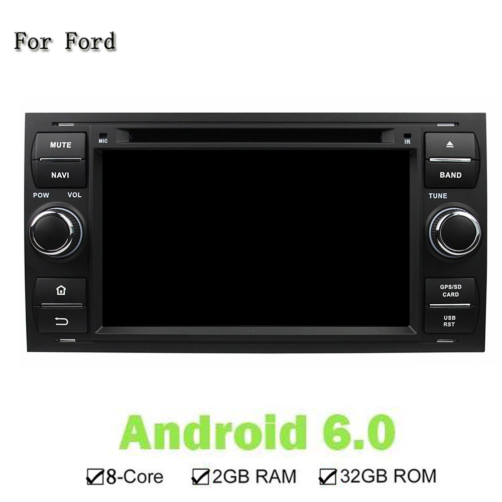 2GB RAM Octa Core Android 6.0 Stereo GPS Navi Player Fit For Ford FOCUS Mondeo S-MAX C-MAX Galaxy Fiesta Form Fusion Connect