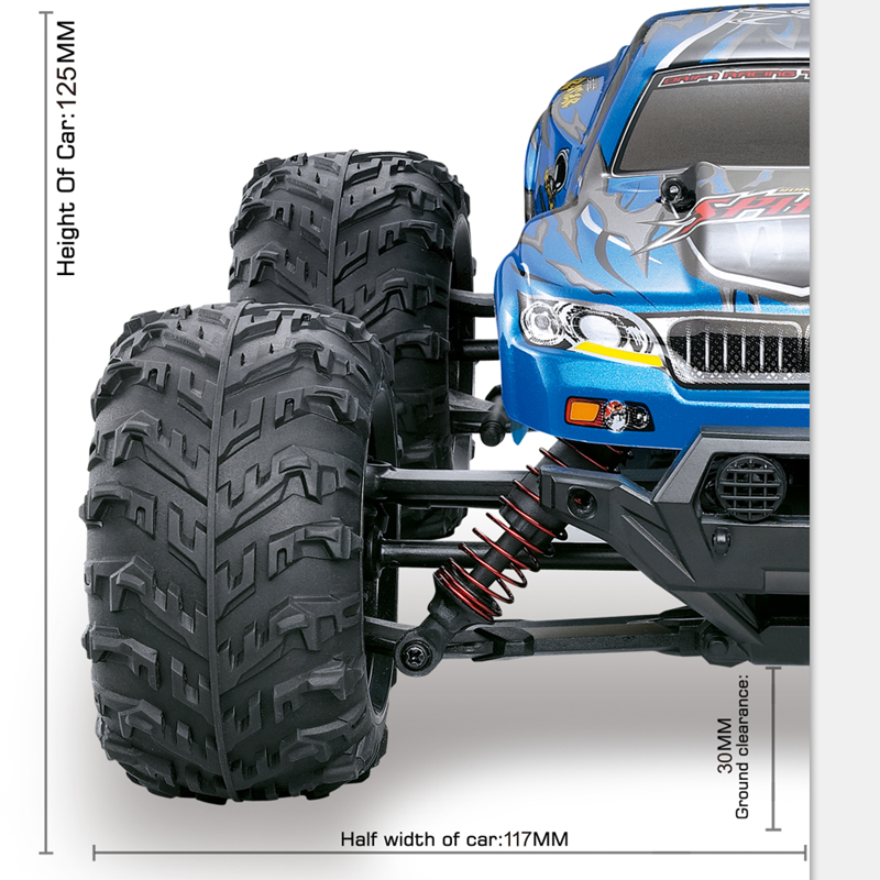 New XLH 9130 1:16 Bigfoot 4WD High Speed Model 80m Remote Control Distance 36KM/H Boy Gift