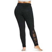 Plus Size Mesh Fitness Leggings for Women