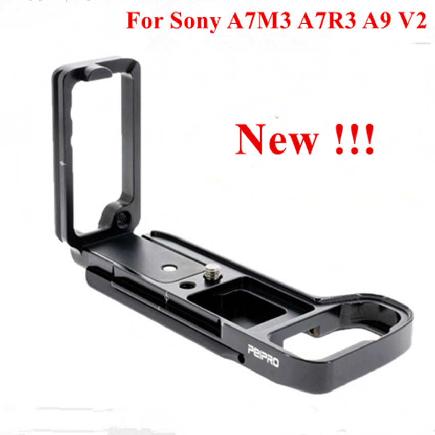 2018 New PEIPRO Aviation alloy aluminum quick Release L plate bracket camera Hand Grip for A7M3