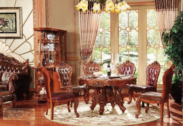 Nueva clásica muebles de comedor madera comedor juegos de mesa en ...