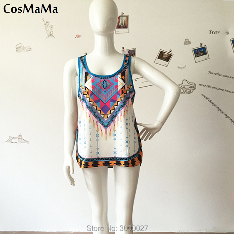 2017 New CosMaMa Brand Singlet Women Summer Clothing Designer Leap Chiffon Cropped Sparkly Lace Sexy Sleeveless