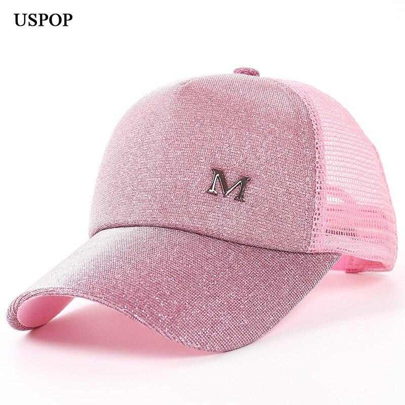 USPOP 2018 mujeres nuevas gorras de béisbol gorras carta de las - Accesorios para la ropa