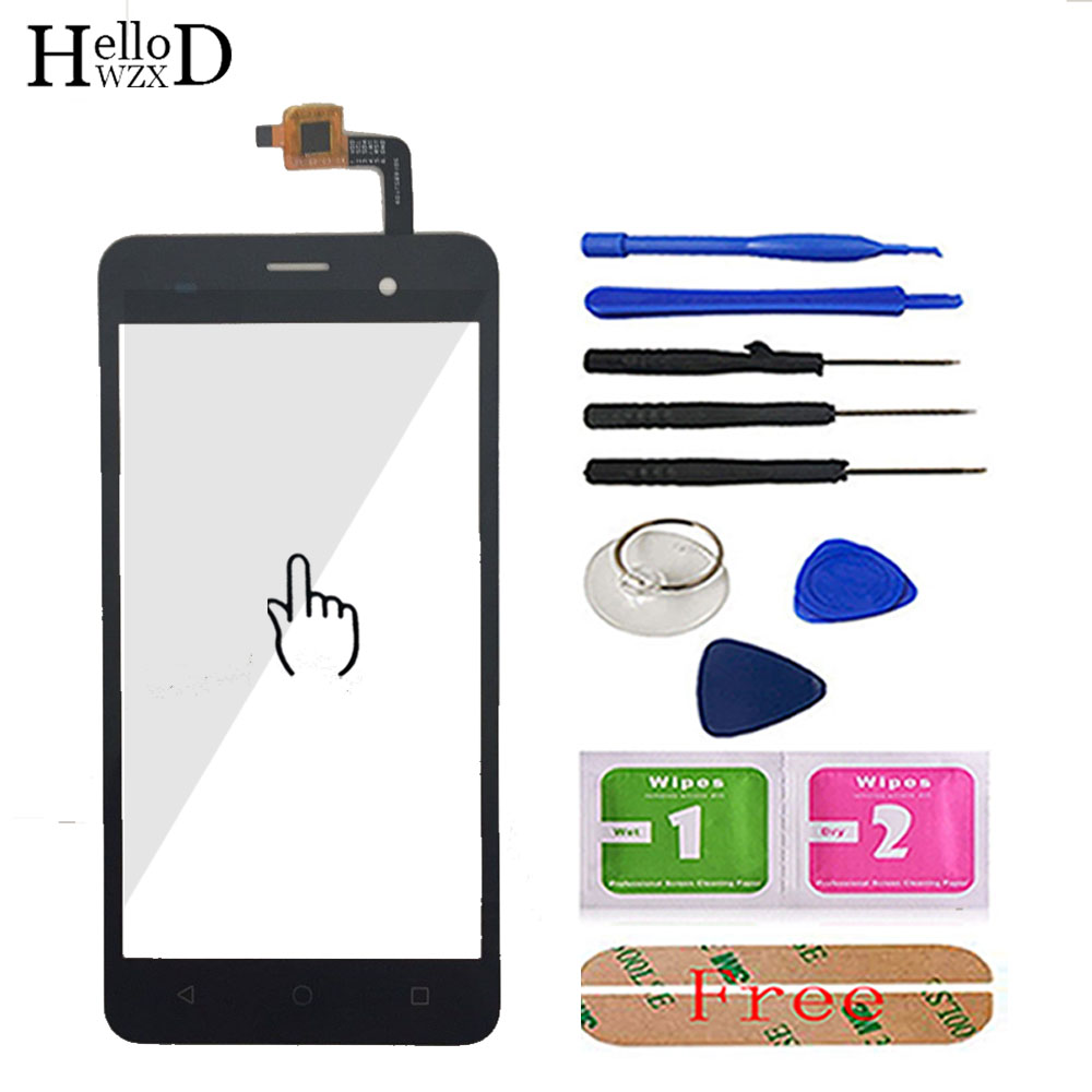 HelloWZXD 5.0inch For BQ BQS-5020 BQS 5020 Touch Screen Glass Front Digitizer Panel Lens Sensor Flex Cable Tools + Adhesive Gift