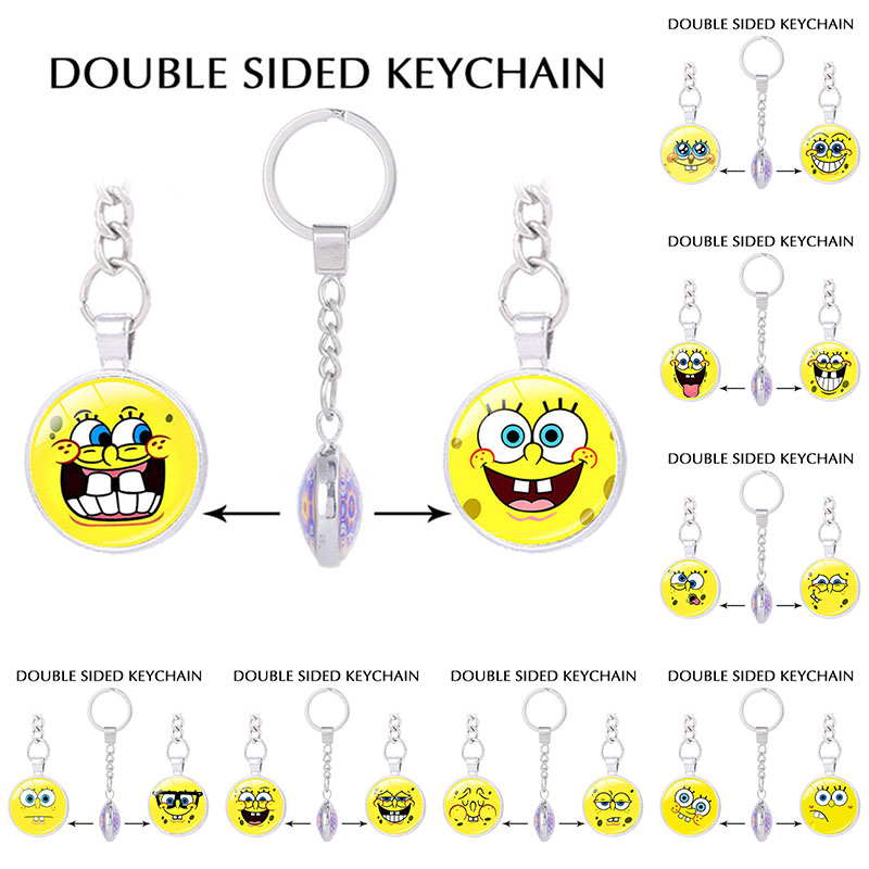New style cute Cartoon SpongeBob SquarePants key chain