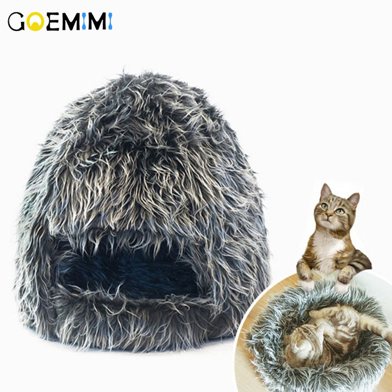 Warm Hairy Cat Cave House Pet Bed Dog Lovely Soft Suitable Cushion High Quality Products