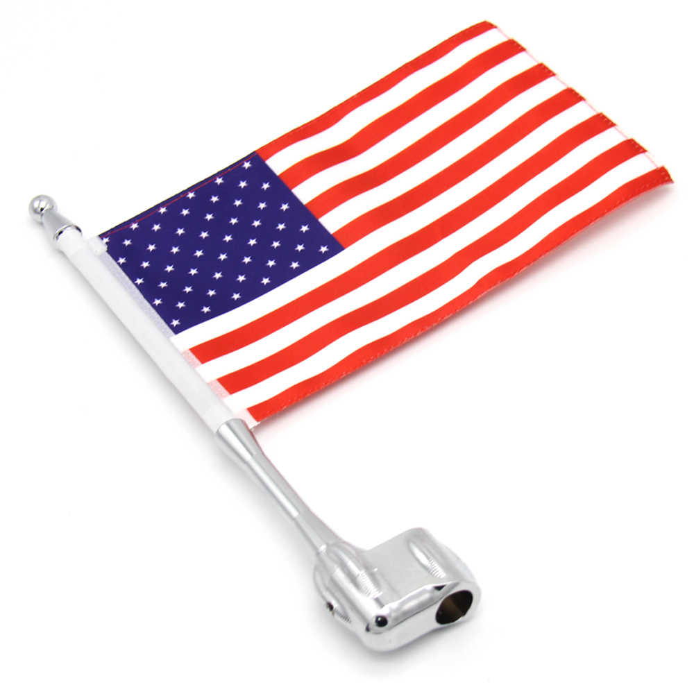 Vertical Luggage Rack Flag Pole+US Flag For Honda Goldwing GL1800 GL1500 2001-11
