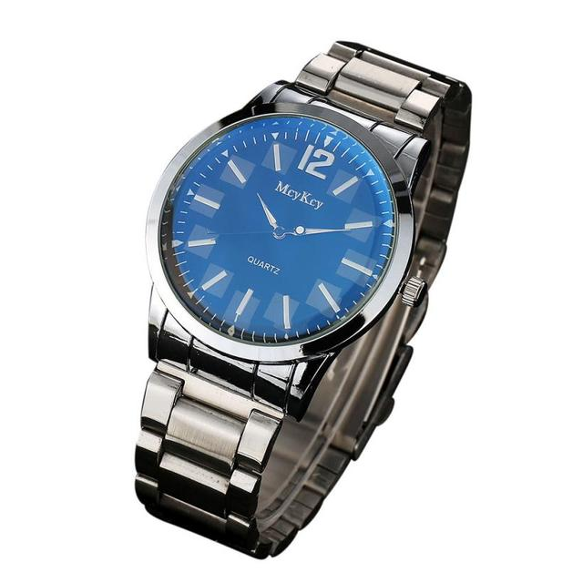 the latest 199bb 579d3 McyKcy Watch Men s Bracelets Watches Fashion Men Simple Stainless Steel  Analog Quartz Wrist Watch MY049 Dauphin
