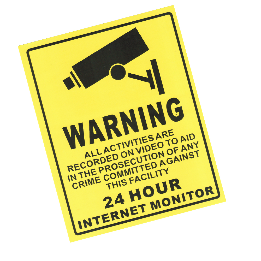 Us 999 10 Stücke 24 Stunde Cctv überwachungs Aufkleber Kamera Warnzeichen Aufkleber Etiketten Für Home Shop Fabrik In 10 Stücke 24 Stunde Cctv