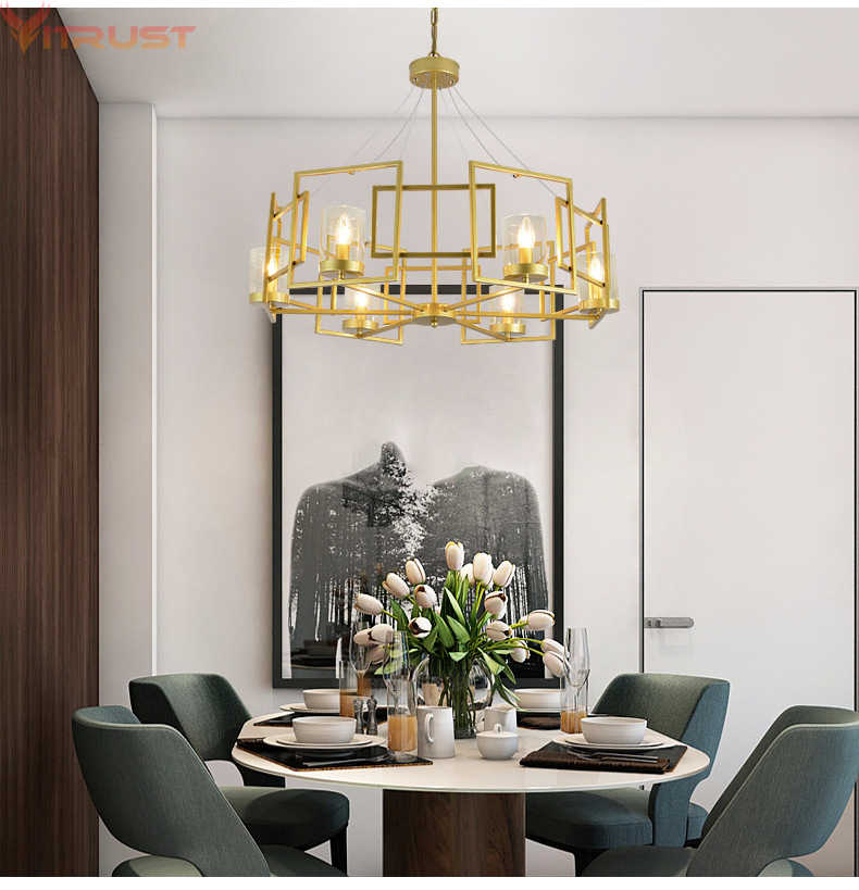 Modern Chandeliers Lighting Home Fixture Ceiling Hanging Suspension Lamp LED lamps Living room Bedroom Dining Gold Designers