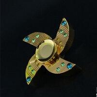 Hand Spinner Fidget Creative Wooden Tri Spinner Stress Triangle Fingertips Gyro Austim Toys Hand Finger Spinner