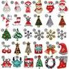 100PCS Lot NEW 2017 Christmas Nail Art Decoration Alloy Jewelry Glitter Strass Rhinestones Slice Stickers Decal