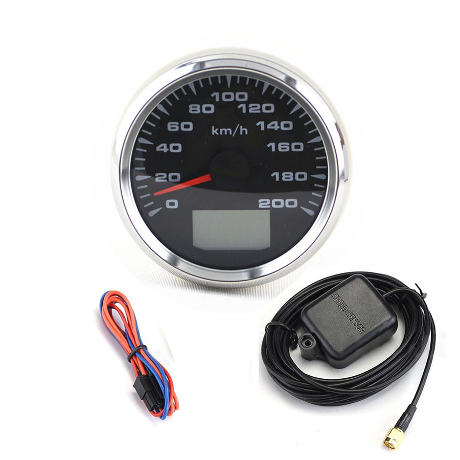 Universal 7 Colors GPS Speedometer Gauges Tuning 85mm Auto LCD Speed Odometers 9 32V Speed Mileometers Trip Gauge Cog Backlight