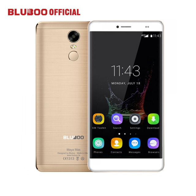 "BLUBOO Maya Max Mobile Phone 6.0"" HD MTK6750 Octa Core 3GB RAM 32GB ROM Android 6.0 13MP+8MP Dual SIM 4G LTE Fingerprint 4200mAh"