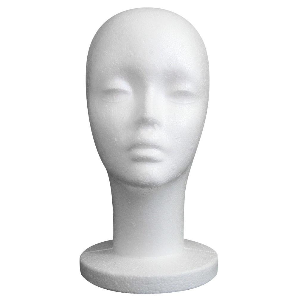Stock Clearance Female Styrofoam Mannequin Manikin Head Model Foam Wig Hair Glasses Display Brand Hot Selling High Quality #L5