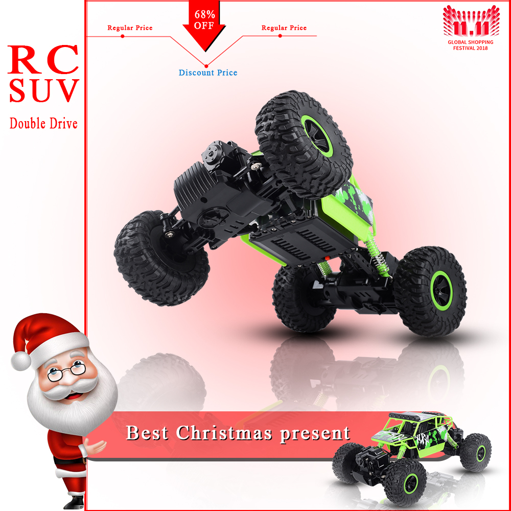 US $67 99 |1:18 RC Car 4WD 2 4GHz Rock Crawler RC Car 4x4 Bigfoot Car  Remote Control Model Off Road Vehicle Toy-in RC Cars from Toys & Hobbies on