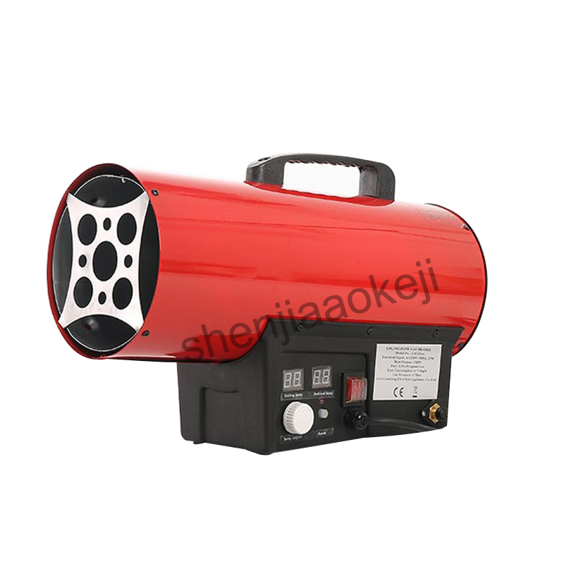 1pc Warm air blower 15KW industrial Electricity heater fan heater LXG10 hand held portable heating plant construction 10KW 220V