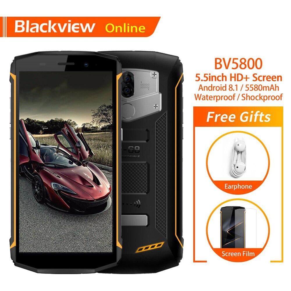 Blackview BV5800 Original IP68 Waterproof 5 5 Smartphone 2GB 16GB Quick Charge 5580mAh Battery NFC 4G