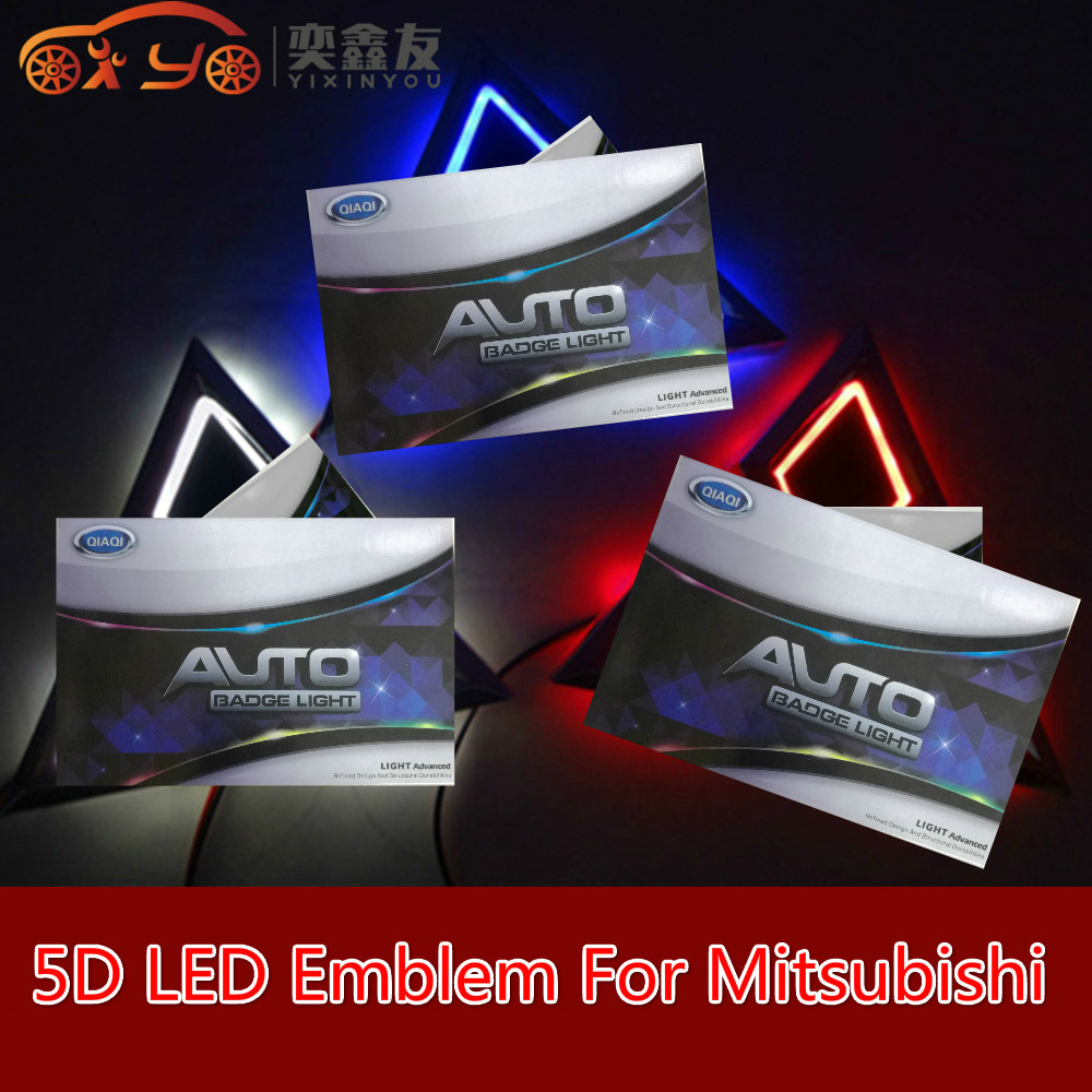 5d Led Car Emblem Badge Light For Mitsubishi Asx Lancer Outlander