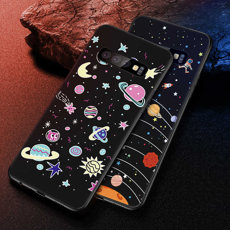 New Fashion Pattern Case For Samsung Galaxy S10 Plus S10e A51 A71 M10 M20 M30 A10 A20 A30 A40 A50 A70 Star Space TPU Phone Cover