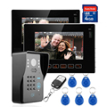 "9"" LCD Video Door Phone Doorbell Intercom System Night Vision Camera With 4G SD Card  taking photo (1 Camera To 2 Monitor)"