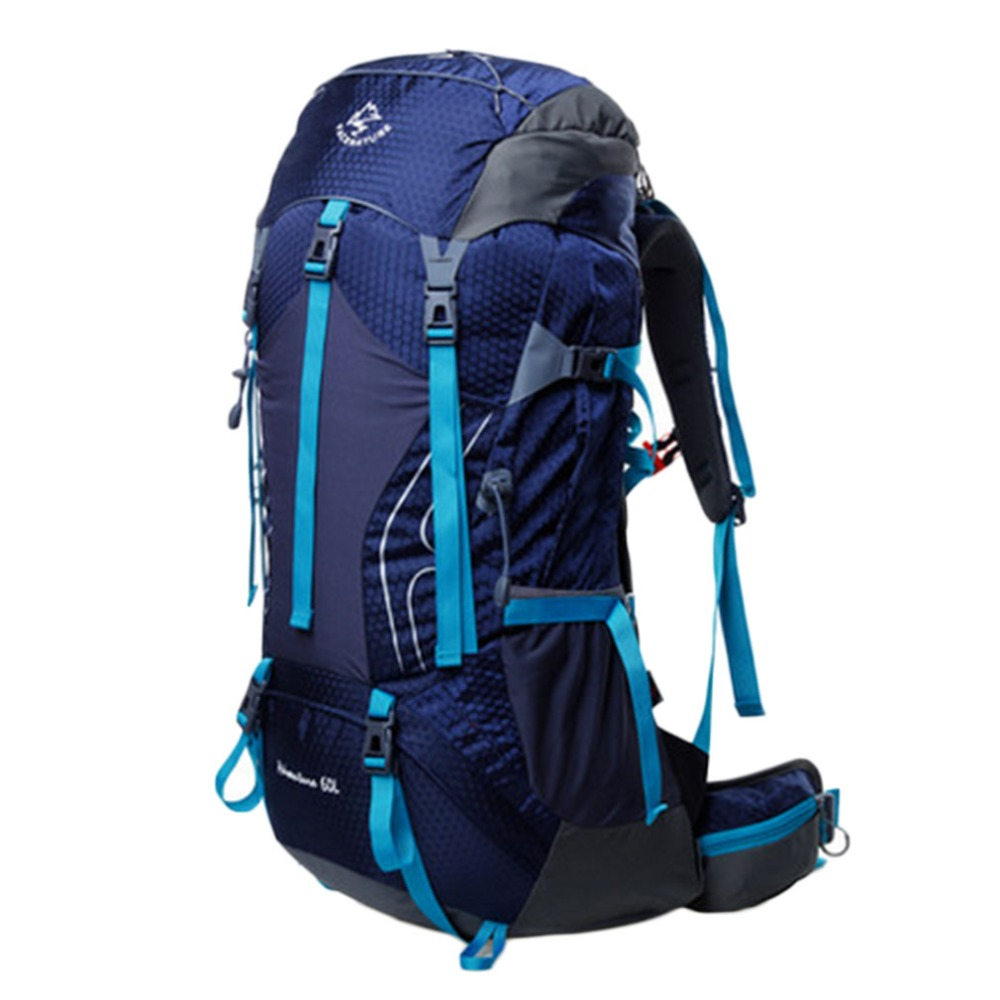 60L Outdoor Sport Hiking Camping Mountaineering Travel Backpack Rucksack Bag TOP Quality outdoor 65l mountaineering camping backpack general travel outside sport bag freeshipping