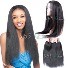 New Arrival Malaysian Virgin Hair Weave 3 Bundles Light Yaki With Pre Plucked 360 Full Lace Frontal Closure #1B With Baby Hair