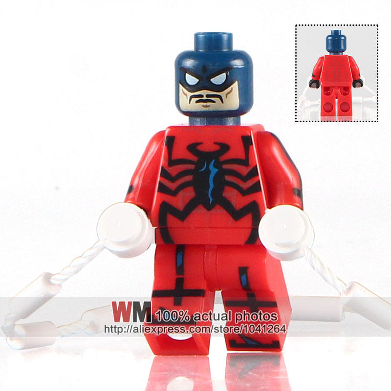 Precise Wm Building Blocks Single Sale Pg204 Tarantula Wolf Spiderman Paladin Marvel Super Hero Avengers Bricks Kids Diy Toys Pg8057 Model Building