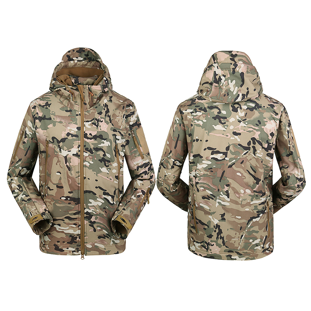 Hiking Clothing Coat Sportwear Hooded Windproof Jacket Hunting Climbing Outdoor Camping