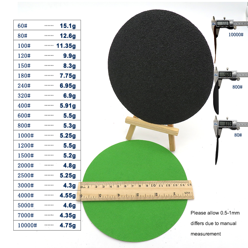 Image 3 - 20pcs 6 Inch 150mm Waterproof Sanding Discs Hook & Loop Silicon Carbide Sandpaper Wet/Dry 60 to 10000 Grit for Polishing-in Abrasive Tools from Tools