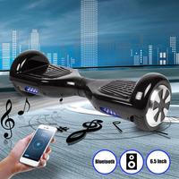 6.5 Inch Self Balancing Scooter hoverboard with Bluetooth Speaker Smart E Scooter APP Remote Control Electric Skate Board EUPlug