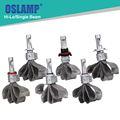 Oslamp Hign/Dipped Beam 9005/9006/H13/H11/H7/H4 Car Headlight Bulbs Fan-less SUV Headlight Kits CREE Chips Led Fog Lamps HB3/HB4