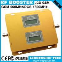 Wholesale GSM/DCS 900mhz/1800mhz LCD display dual band mobile phone signal repeater dual band cell phone booster GSM amplifier