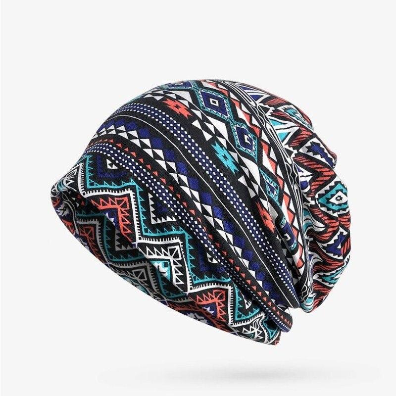 Seioum Turban Hat Female Women's Winter Hats For Men Skullies Beanies Plaid Pattern Winter Bonnet Femme Gorros Knitted cap