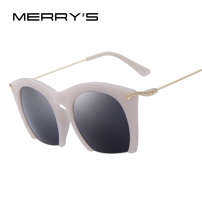 22401150a4 MERRY S Fashion Women Cat Eye Eyewear Classic Retro Semi-rimless Eyewear  UV400