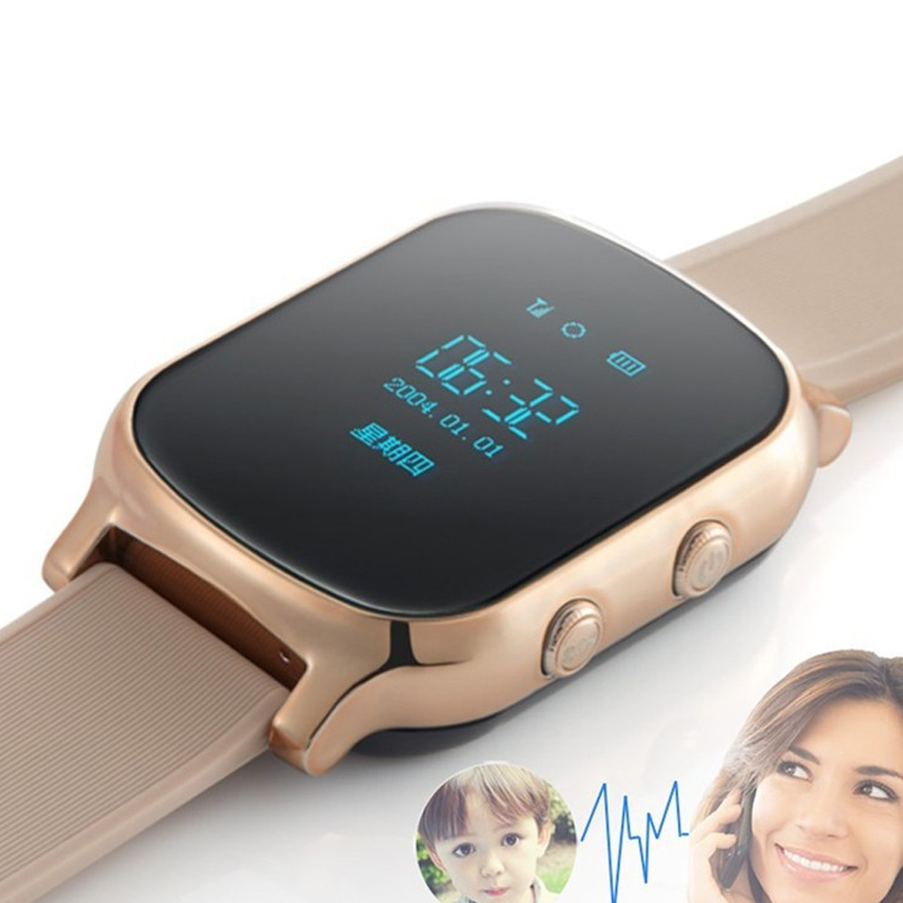 New GPS tracker watch for kids child gps bracelet google map sos button gps bracelet personal tracker gsm gps locator watch