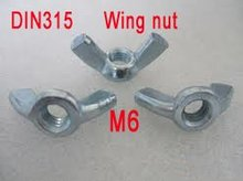 M4 M5 M6 M8 Thumb Nuts Wing Butterfly Nut Carbon steel
