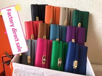 Genuine leather Classic wallet women's wallet fashion money clip women purse Multiple colors free shipping