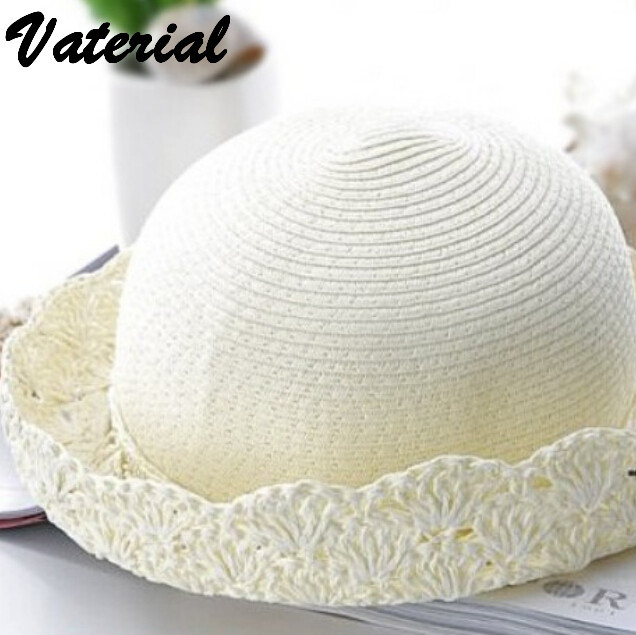 a19350ce310 Korean fashion british style small hollow straw hat ladies hats women  fashion hats 2016 sun hats for women with big heads VC0680-in Sun Hats from  Apparel ...