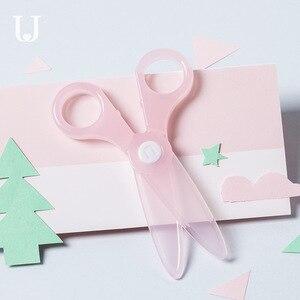 Image 3 - Youpin Jordan & Judy nożyczki dziecięce bezpieczeństwo mały uroczy papier do cięcia noża nie boli rąk okrągłe głowy nożyczki dla dzieci