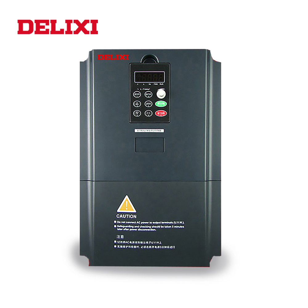 DELIXI AC 380V 0.4/0.75/1.5/2.2/3.7KW 3 phase frequency inverter drives VFD for motor Speed Control 50HZ 60HZ DC converter
