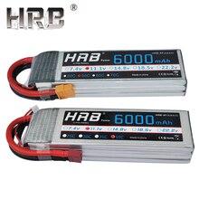 HRB 6000mAh Lipo батарея 50C 3S 2S 7,4 V 11,1 V 14,8 V Deans T XT60 4S 5S 6S 3,7 V 18,5 V 22,2 V AKKU лодка вертолеты Самолет RC запчасти