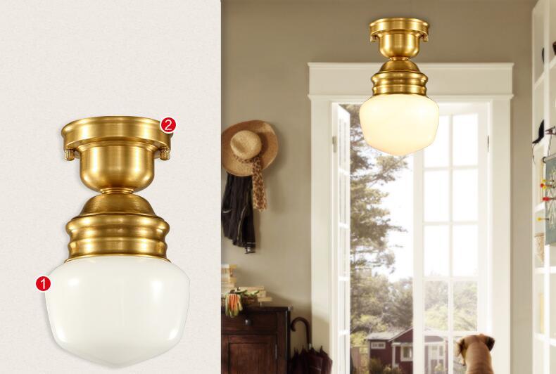 American Copper Plafon Retro Vintage stropní světlo pro domácí - Vnitřní osvětlení - Fotografie 3
