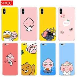 Силиконовый чехол для телефона Iphone 6X8 7 6s 5 5S SE плюс 10 случае Корейский мультфильм смешной какао друг